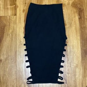 Sexy pencil skirt with side elastic bands